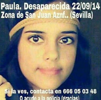 Paula, joven desaparecida en Sevilla