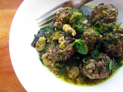 Beef Meatballs with Broad Beans, Lemon and Herbs