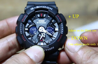 cara setting jam casio g shock,harga jam g shock ga 100,jam tangan g shock ga 100,cara mengatur jam g shock,how to set time on g shock ga 100,