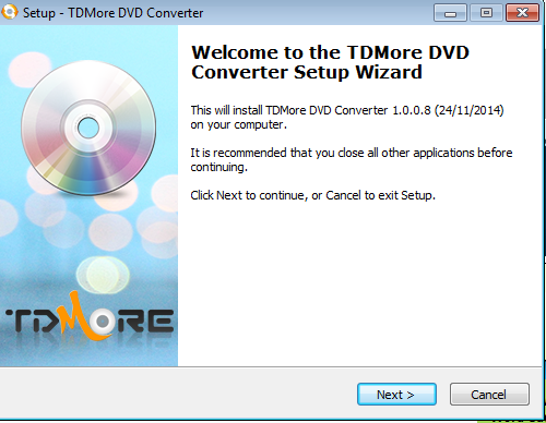 H.265 Encoder Enabled TDMore DVD Converter