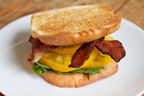 Image result for BLT heirloom tomato sandwich