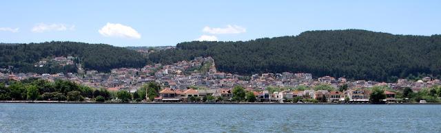 Ioannina desde el lago Pamvótida