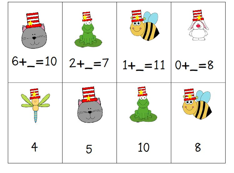 I Dream of First Grade: A Cat with A Hat and Friends Math Centers