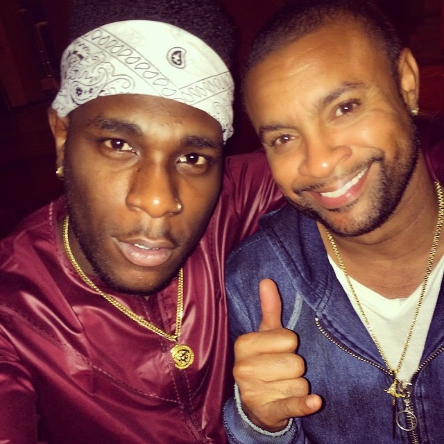 Burna Boy Keeping It Real With Reggae Music Lord, Shaggy – Photos