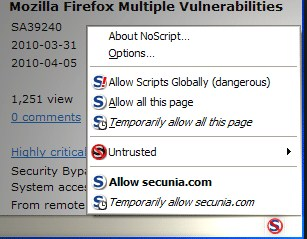 NoScript 2.6.9.4 Free Download