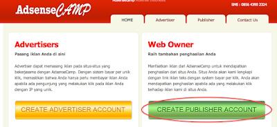 Cara Mendaftar Dan Menghasilkan Uang Dari Blog Melalui PPC AdsenseCAMP