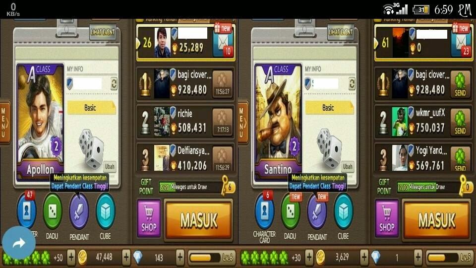 Screenshot Line Get Rich