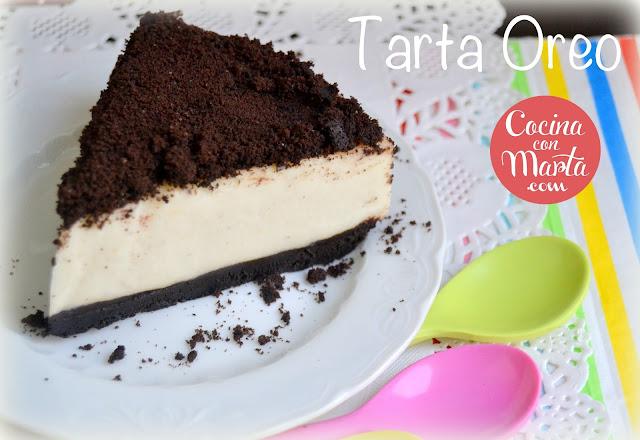 Tarta Oreo, receta casera, fácil y rápida. Cocina con Marta.
