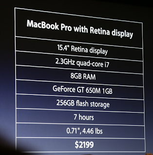 price n specs of new macbook pro
