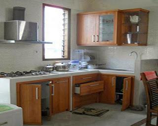 Kitchen set minimalis untuk dapur sempit jual kitchen for Kitchen set jadi