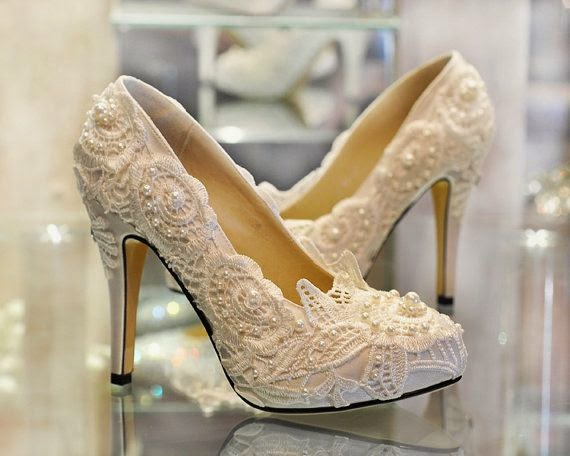 lace wedding shoes bride wedding day inspiration