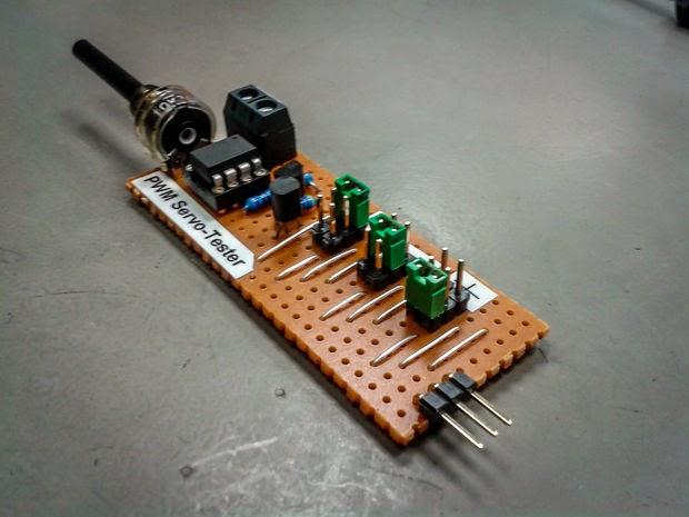 testador de servo e gerador de PWM com ATtiny
