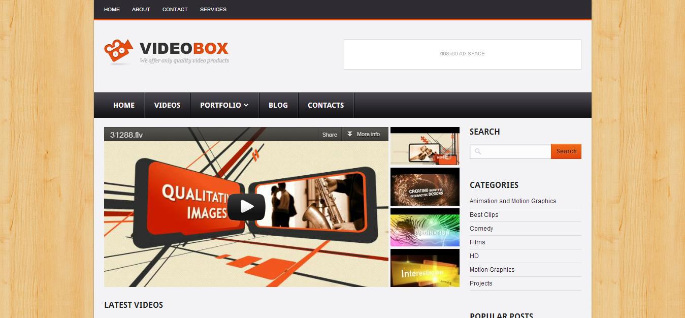 Videobox Blogger Template Cool Blog Templates Premium Blogger