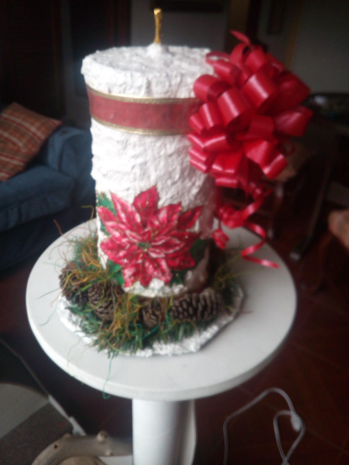 Manualidades y navidad adornos de navidad con tubos de - Adornos navidenos con rollos de papel higienico ...