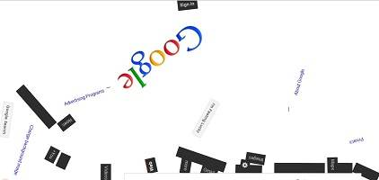 Google gravity magic trick