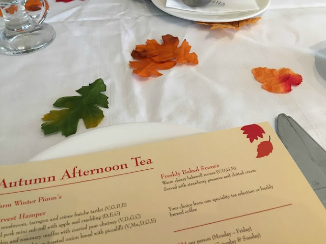 Autumn Afternoon tea at the Celtic Manor