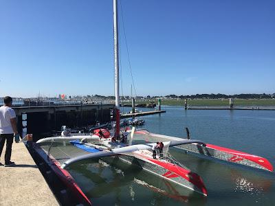 Prince de Bretagne remis à l'eau à Lorient.