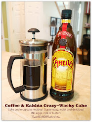 This week's recipe - Coffee & Kahlúa Crazy Cake ( Cake & Mug Versions)