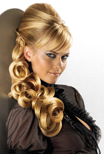 Toupierte frisuren mit locken