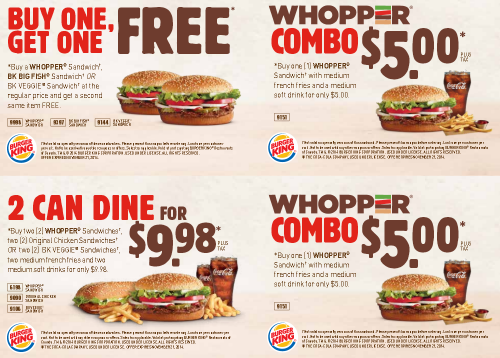 Where to get burger king coupons