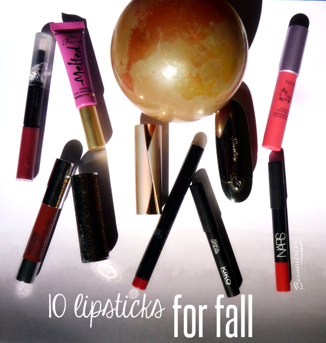 My top 10 lipsticks for fall