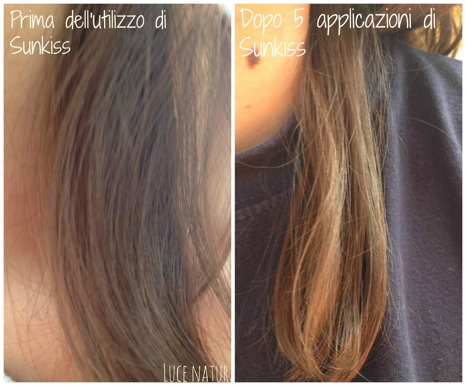 Il sentiero dorato l oreal sunkiss capelli baciati dal sole for Tinte per capelli non nocive