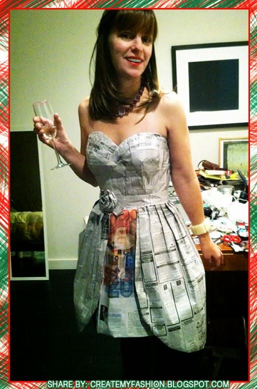 Как сделать платья из газет своими руками быстро