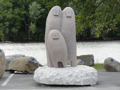 Schoodic International Sculpture Symposium,Koichi Ogino,Japan,sculptor,University of Maine,granite,sculpture,Bangor Waterfront,Maine