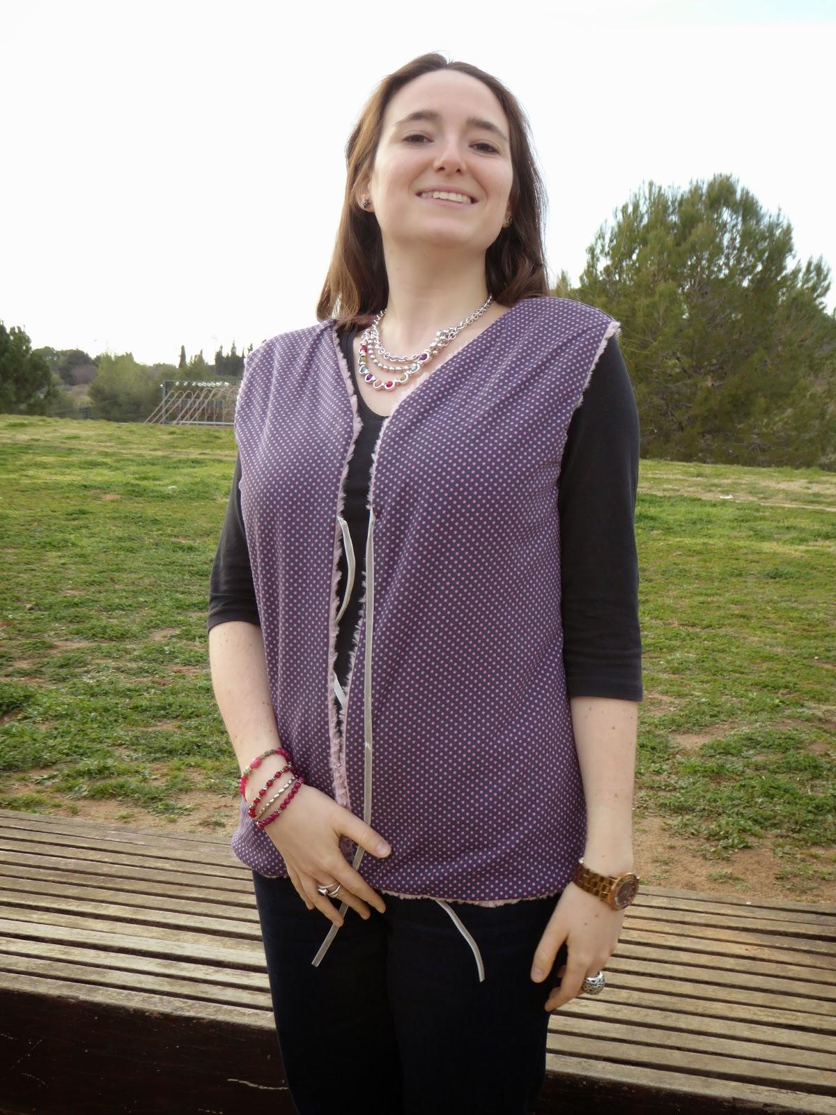 renfrew top chaleco renfrew vest fur pelo minky rosa topitos tutorial traetela modistilla de pacotilla diy