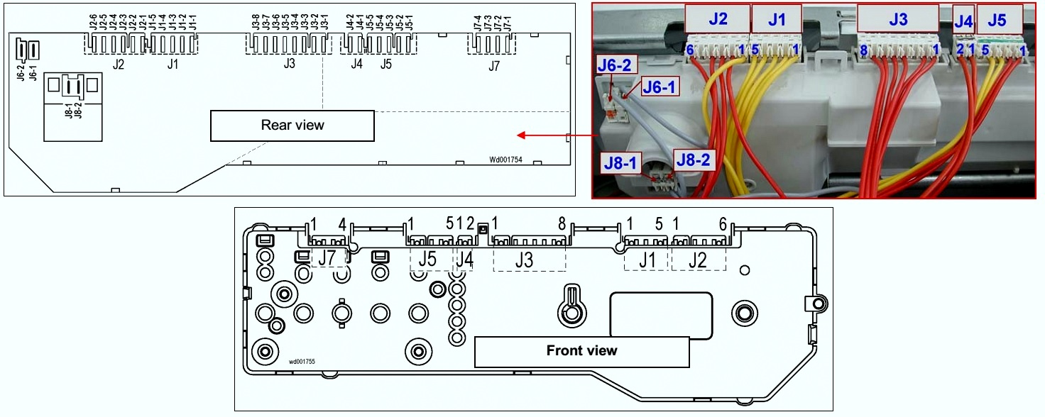 Sharp Washing Machine Wiring Diagram Fuse Box Ge Washer Electrolux Evm1000 Front Loading Connectors And Rh Schematicscom Blogspot Com Kenmore