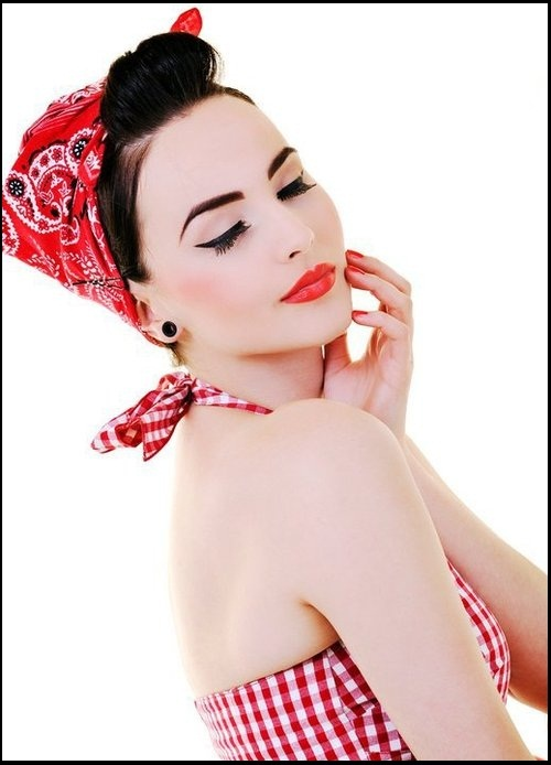 are all awesome rockabilly chicks who have the bandana hairstyles ...