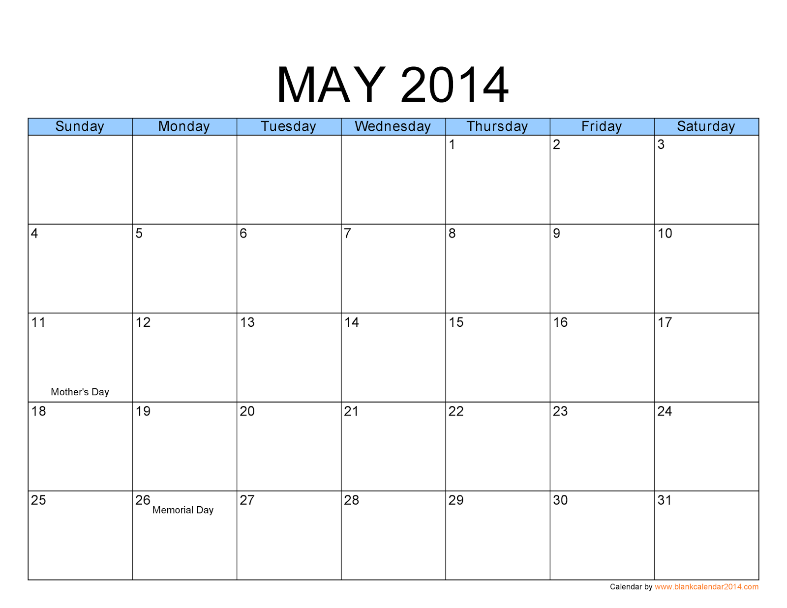 May Calendar Pictures : Free printable calendar may