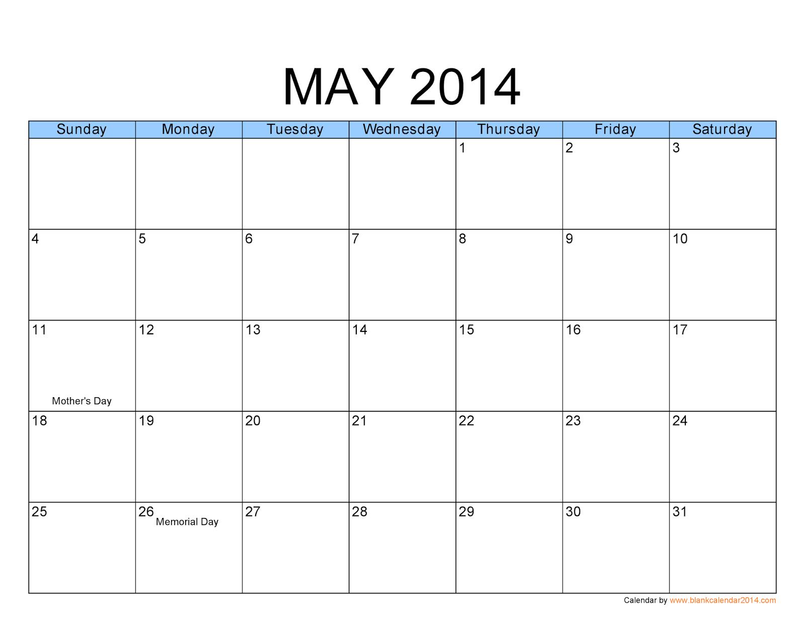 Free calendar printable