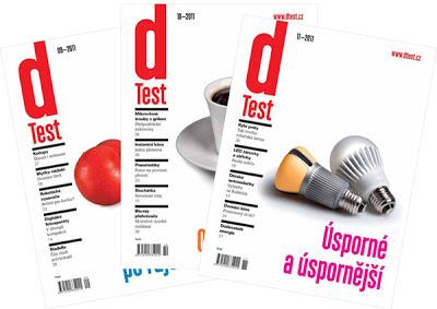 obálky časopisu Test