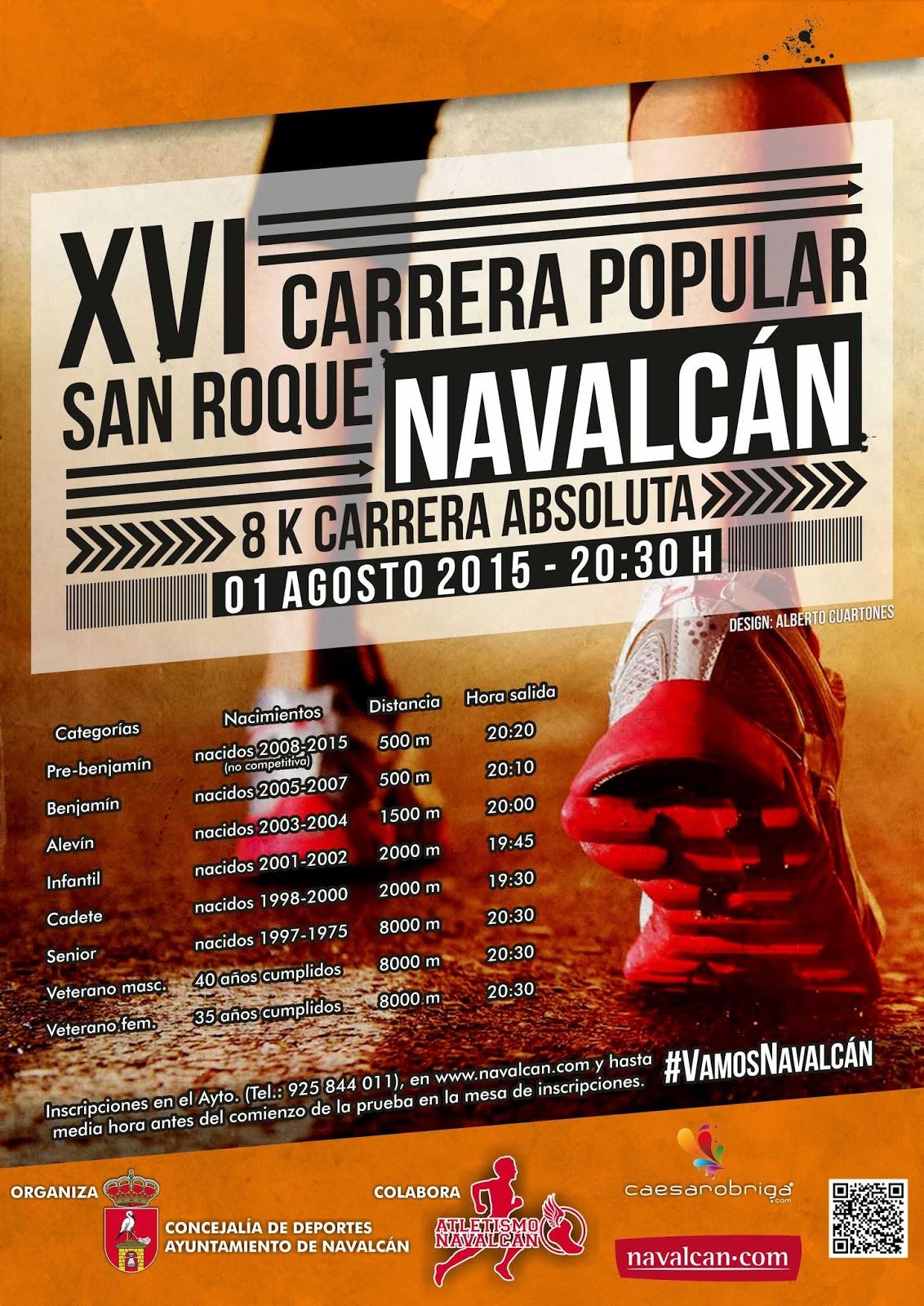 XVI Carrera Popular de San Roque en Navalcán