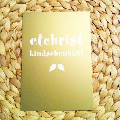 Weihnachtskarte et christkindschenkütt