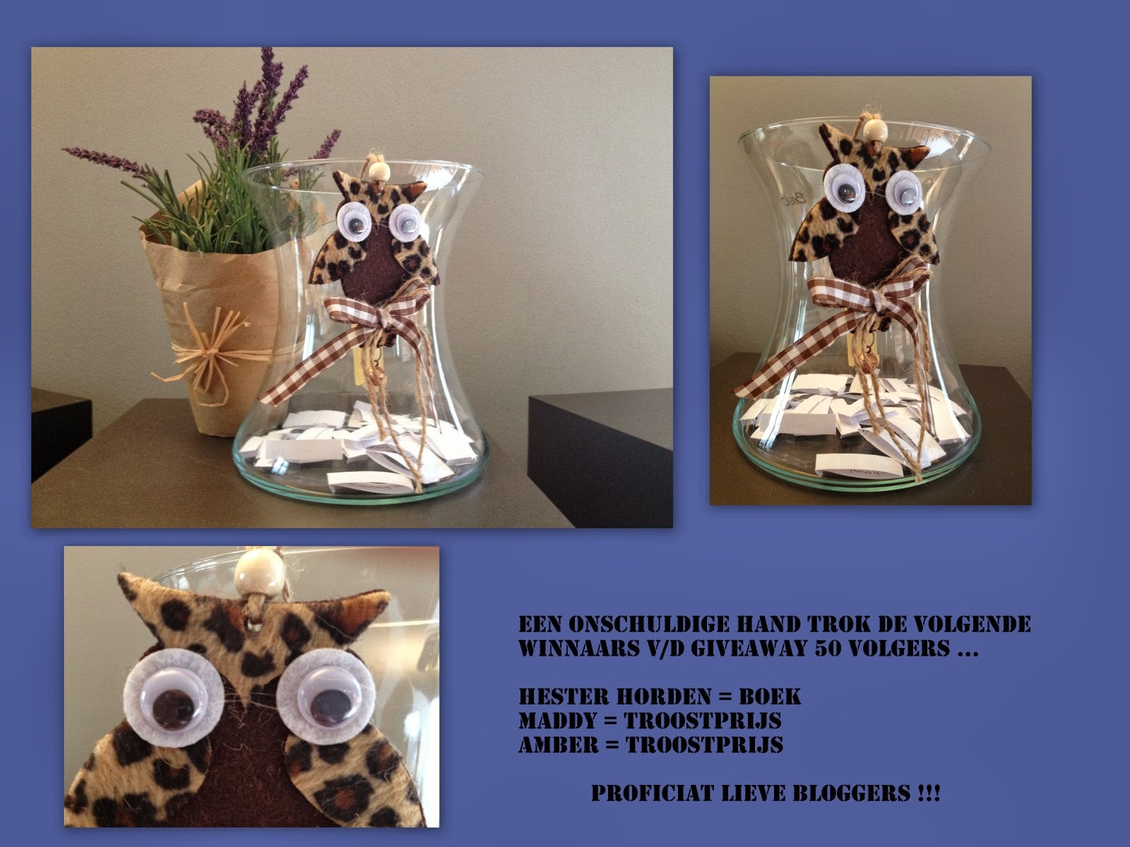 Nog meer issie winnaars give away week u flaflinko