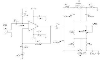 Lm318 Microphone preamplifier with tone control circuit and explanation