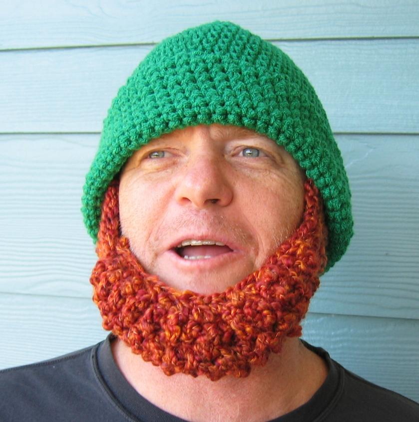 Pattern Crochet Beard Hat : .: Beard Beanie Hats