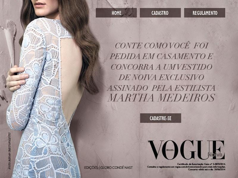 "Concurso Cultural Revista Vogue - ""VOGUE NOIVA BRASIL"""