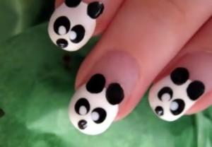 Дизайн для ногтей панда