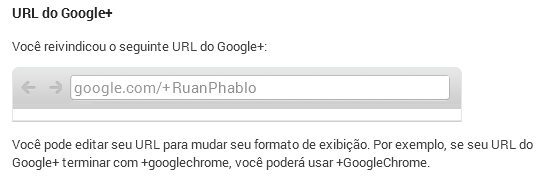 Adquirir link personalisado da Página ou Perfil Google Plus