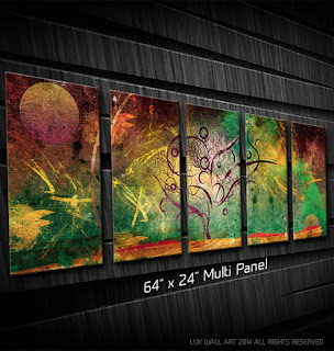 64x24 Multi-Panel Metal Print Metal Wall Art | LuxWallArt Etsy Shop