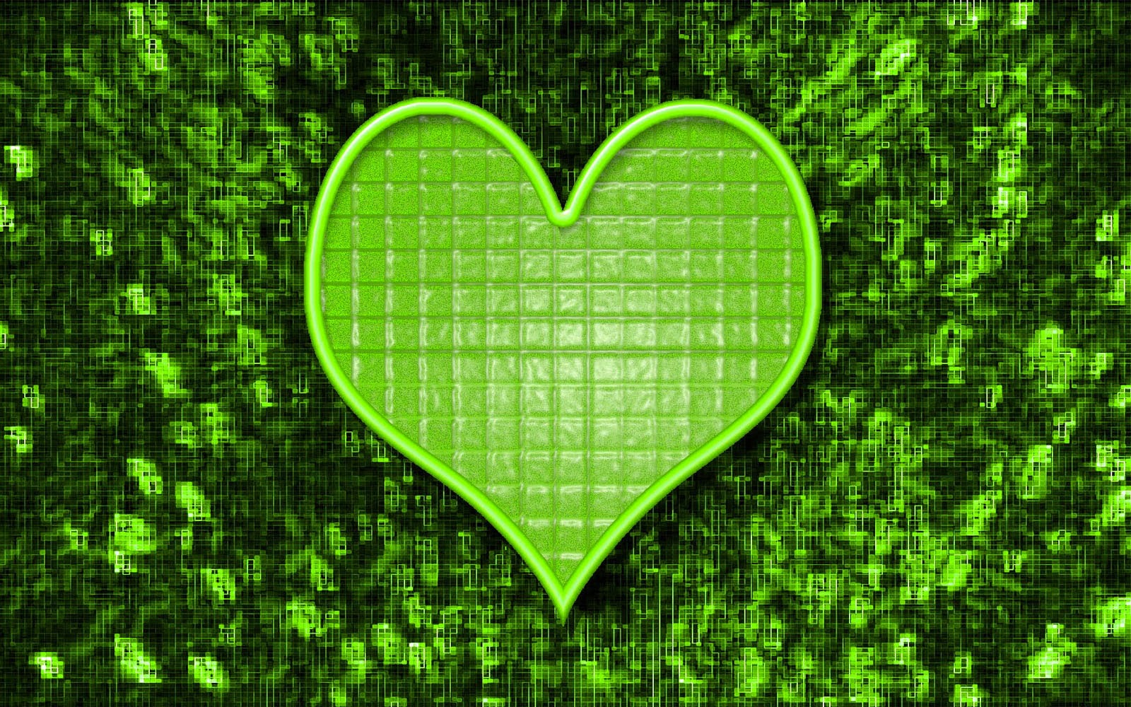 green hearts background - photo #12