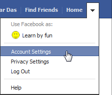 See your Facebook username in account settings