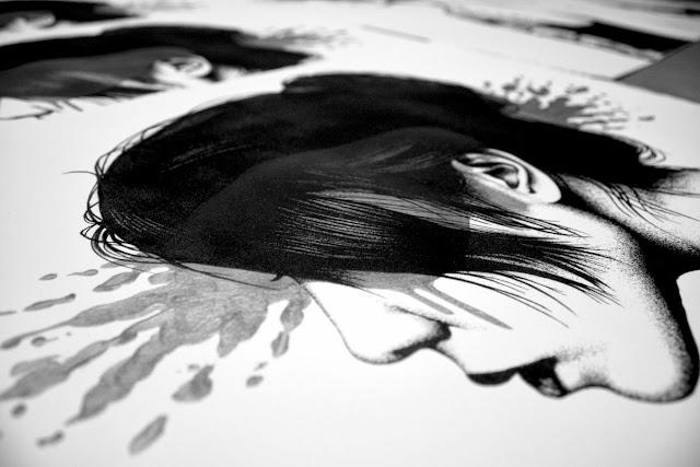 Moonchild print by street artist FinDac detials