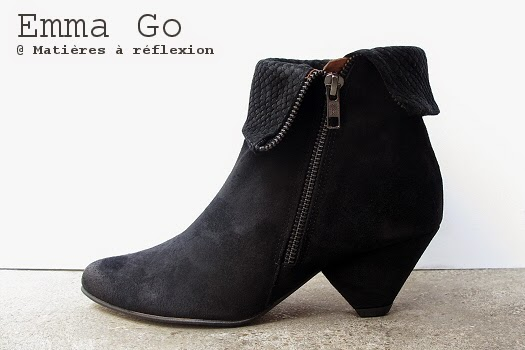 Bottines daim noir Emma Go