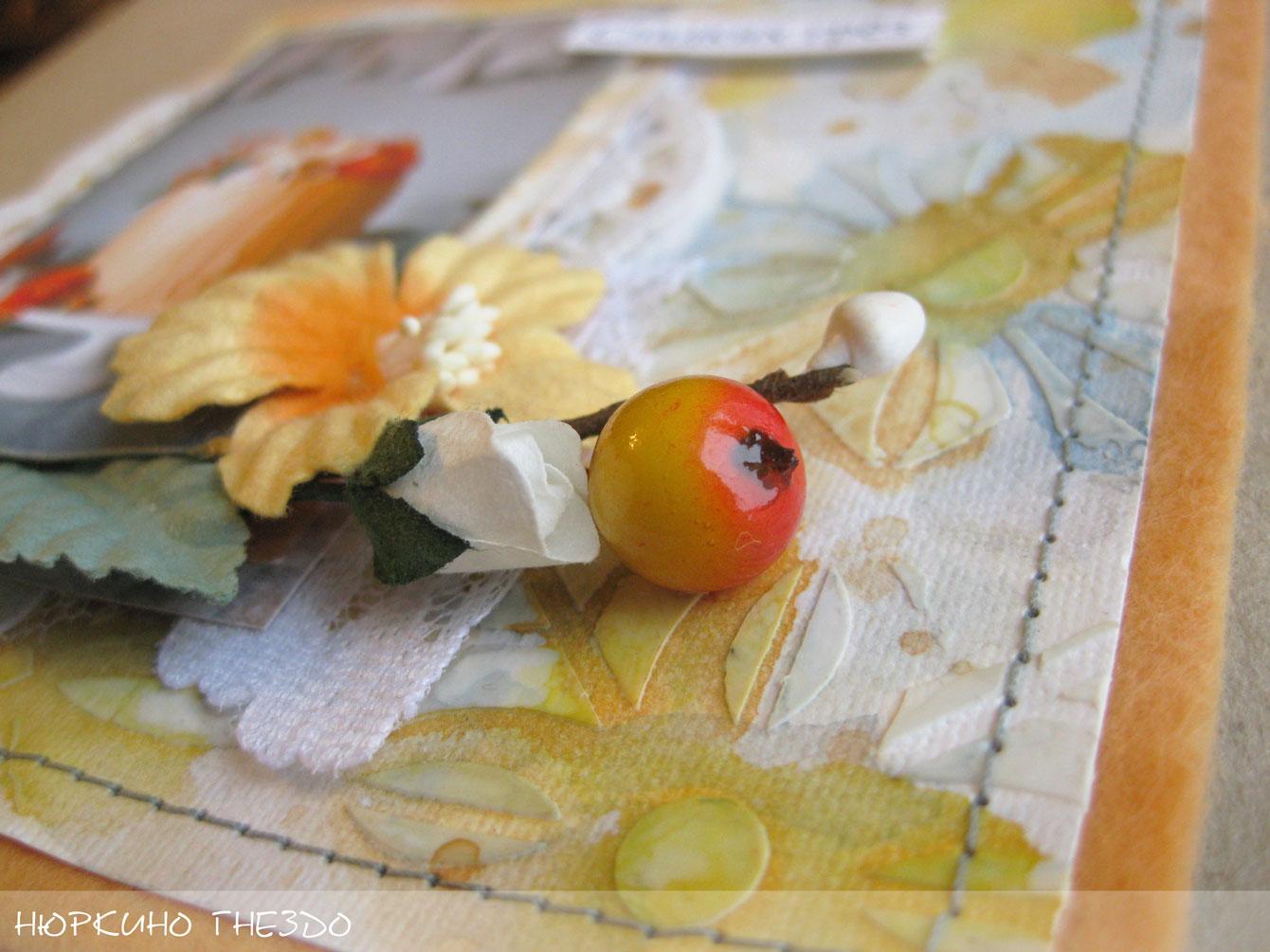Цветочная композиция на открытке