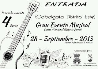 Entrada Evento musical Cabalgata Distrito Este