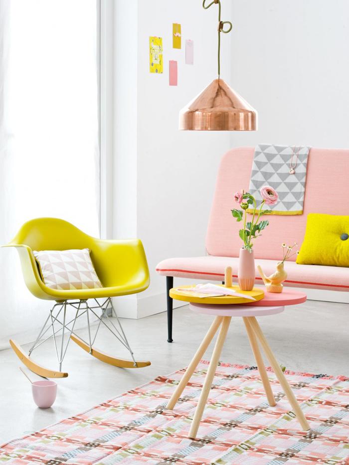 10 Stunning IKEA Hacks from the Pros Poppytalk : bijzettafel van Ikea krukjes from www.poppytalk.com size 700 x 933 jpeg 381kB